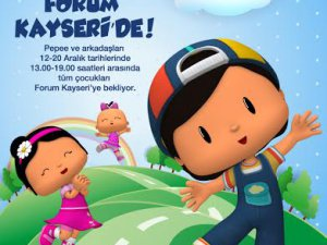 Forum Kayseri'de Çocuklar Pepee ile   Coşacak!