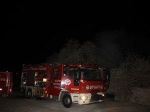 Boztepe'de Çıkan yangın