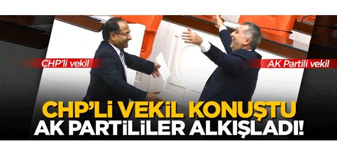 CHP'li vekil konuştu AK Partililer alkışladı