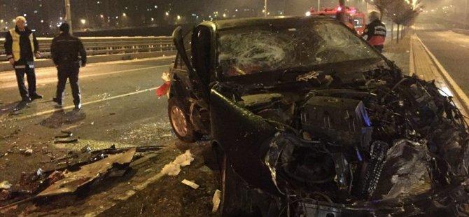Mimarsinan Köprülü Kavşak'ta feci Trafik kazası