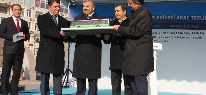 KAYSERİ'DE TOPLUMA TAŞIMA İÇİN ALINAN 50 OTOBÜS