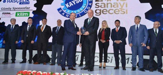 KAYSO SANAYİ GECESİNDE KAYSERİ ŞEKER'E İKİ ÖDÜL