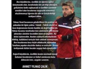 Gençlerbirliği Kaptanı Ahmet Çalık'tan Yılmaz Vural'a Cevap