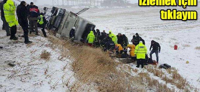 Kırşehir'de Yolcu otobüsü devrildi: 9 ölü, 30 yaralı