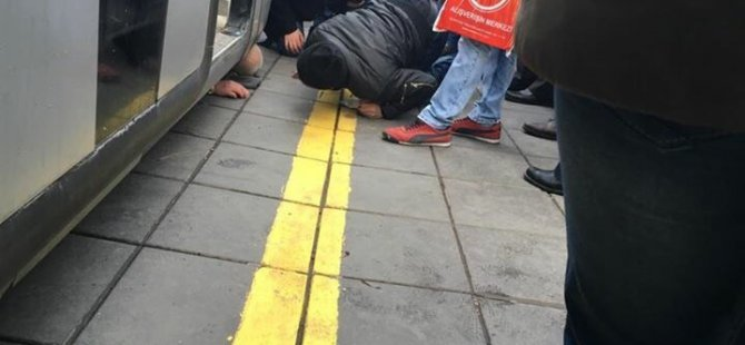 Kayseri'de Tramvayın altında kalan kişinin mucize kurtuluşu