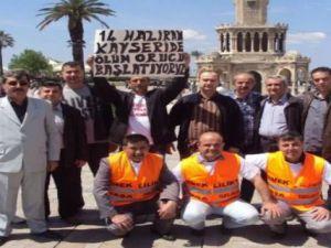 KAYSERİ'DE AÇLIK GREVİNE BAŞLADI