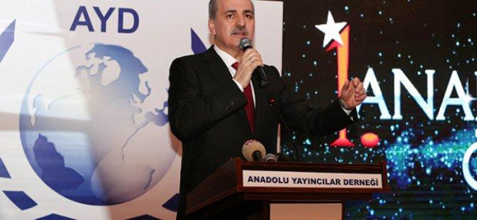 Kurtulmuş Anadolu Medya Ödülleri Törenine Katıldı