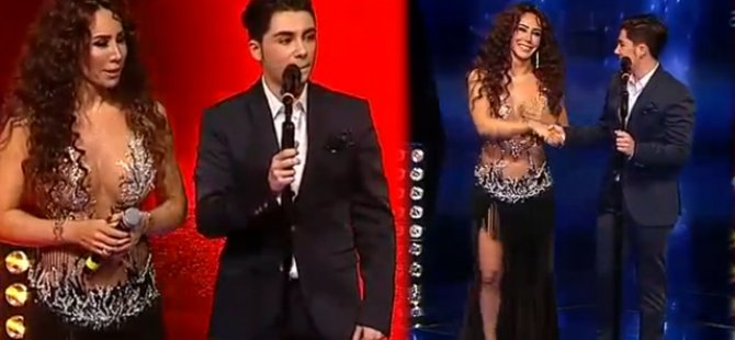 Aziz Kiraz Çeyrek Final O ses Turkiye dansoz Asena Show