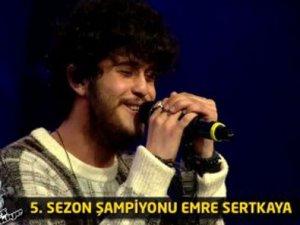 O Ses Türkiye'nin şampiyonu Emre Sertkaya oldu