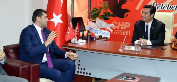MHP KAYSERİ CHP'YE HAYIRLI OLSUN ZİYARETİ