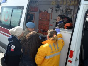 Kayseri'de Trafik kazası bayan gözyaşlarını tutumadı