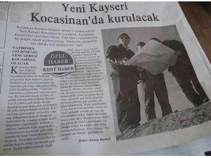 YENİ KAYSERİ KOCASİNAN'DA KURULACAK