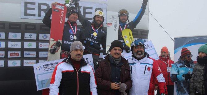 FIS SNOWBOARD DÜNYA KUPASI ERCİYES FİNALİ YAPILDI