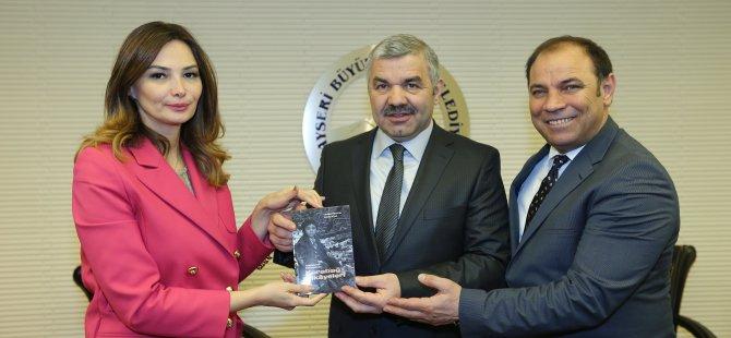 Paşayeva Büyükşehir Belediye Başkanı Çelik'i  ziyaret etti