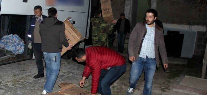 Kayseri'de Piyasa değeri 500 bin TL değerinde kaçak sigara ele geçirildi