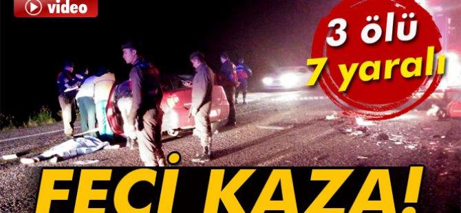 Manisa'da katliam gibi kaza: 3 ölü, 7 yaralı