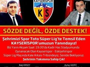 BAKİ ERSOY'DAN KAYSERİSPOR'A DESTEK ÇAĞRISI