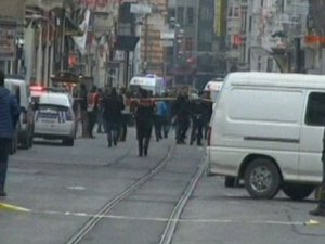 İstiklal Caddesi'nde patlama,video