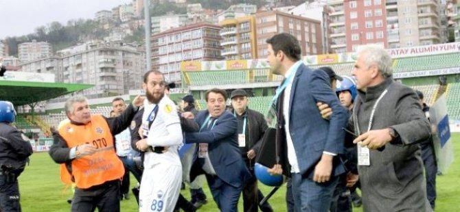 Ercisyesspor Giresunspor maçı sonrası olaylar çıktı