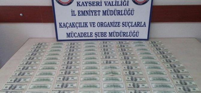 KAYSERİ'DE DOLARLA YAKALANAN KALPAZAN TUTUKLANDI