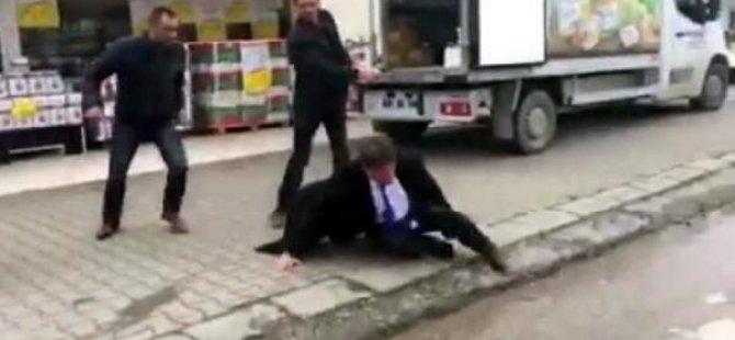 CHP İl Başkanı'na sokak ortasında saldırı