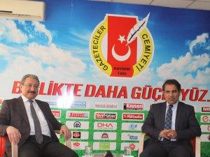 Rektör Güven,Kayseri G.Cemiyeti Başkanı Kösedağ'ı ziyaret etti
