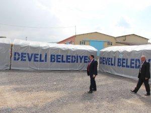 Develi'de Yeni Taziye Çadırları Faaliyette