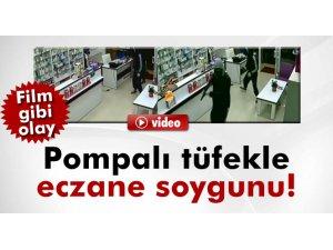 Nöbetçi Eczaneyi Pompalı tüfekle soydular-video