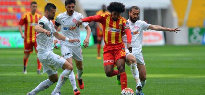 Antalyaspor Kayserispor ile 0-0 berabere kaldı