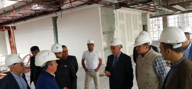 KTO Yönetiminden Yeni Hizmet Binası İnşaatında İnceleme