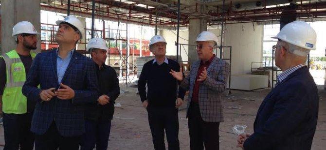 Adana Ticaret Odası Heyeti,KTO Yeni Hizmet Binası inşaatında inceleme yaptı