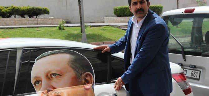 CUMHURBAŞKANI'NA DESTEK İÇİN KAYSERİ'YE GELDİ