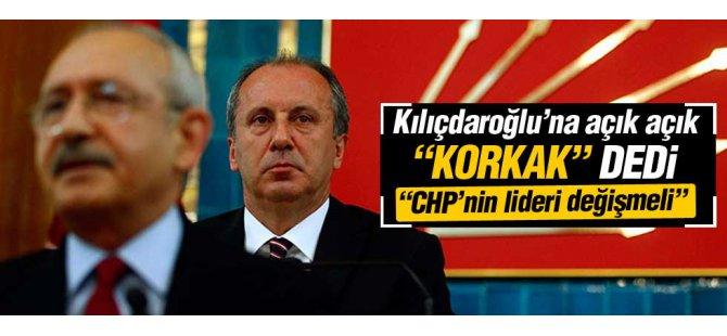 Muharrem İnce: CHP lideri değişmeli