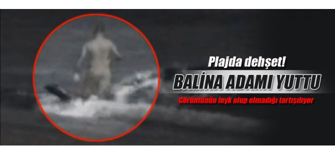 Plaj'da dehşet Balina adamı yuttu-video