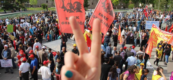 KAYSERİ'DE 1 MAYIS KUTLAMASI'NDA GERGİNLİK YAŞANDI