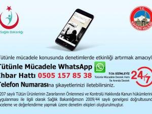KAYSERİ WHATSAPP SİGARA İHBAR HATTI'NA 2 AYDA 632 BAŞVURU OLDU