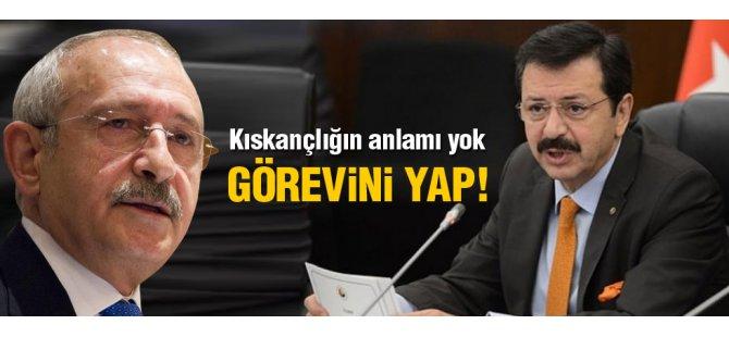 Hisarcıklıoğlu'ndan Kılıçdaroğlu'na sert tepki