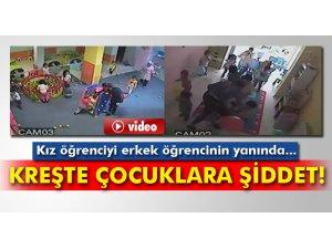 Samsun'da Özel kreşte çocuklara şiddet-video
