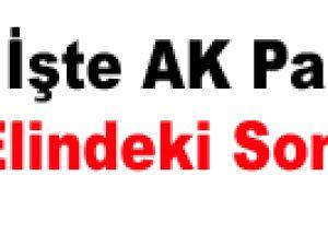 İşte AK Parti'nin Elindeki Son Anket