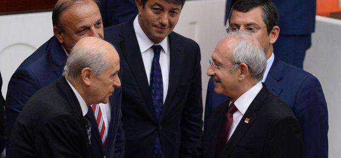 Kılıçdaroğlu ve Bahçeli Mecliste sohbet etti
