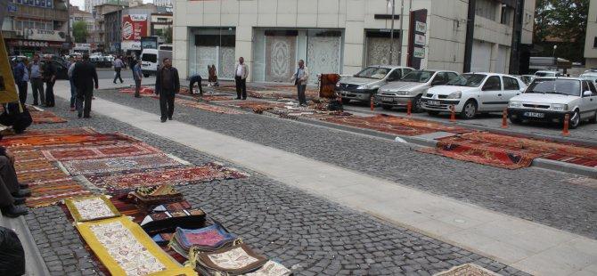 KAYSERİ MAHALLESİ'NDE HALI PAZARI AÇILDI