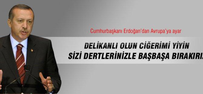 Cumhurbaşkanı Erdoğan Avrupa'ya ayar verdi