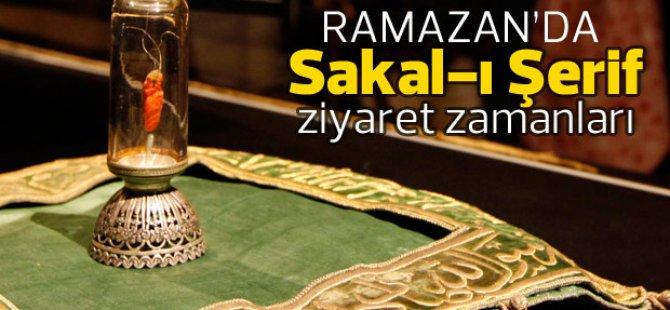 SAKAL-I ŞERİF KAYSERİ'YE GELİYOR