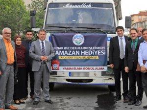 TALAS'TAN ŞIRNAK İDİL'E YARDIM ELİ