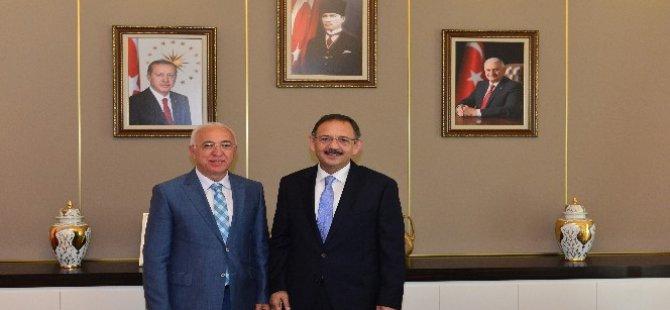 Mahmut Hiçyılmaz Bakan Özhaseki'yi Ziyaret etti