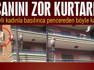 Evli Kadınla Basılınca Pencereden Kaçtı-Video