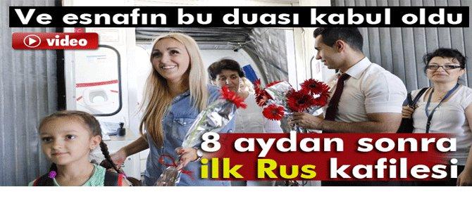 189 Rus yolcu Antalya Havalimanı'na iniş yaptı