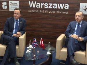 Erdoğan, İngiltere Başbakanı Cameron'la görüştü