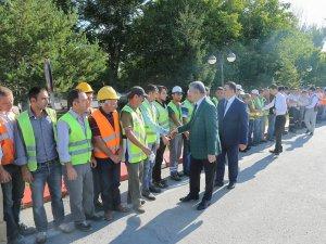 Başkan Mustafa Çelik Personelle Bayramlaştı