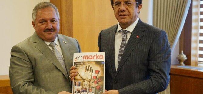 Nursaçan Ekonomi Bakanı Zeybekci'yi ziyaret etti